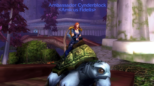 Cynderblock Rides a Sea Turtle
